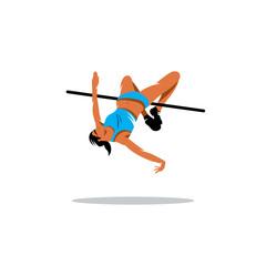 High jump vector sign