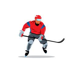 Hockey vector sign