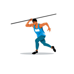 Javelin Thrower vector sign