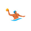 Water polo player vector sign - 70601673