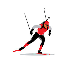 Biathlete vector sign
