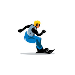 Snowboarding vector sign