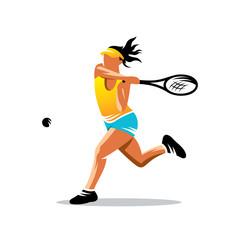 Tennis vector sign