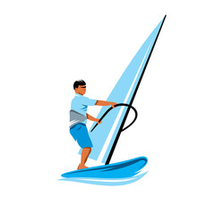 Windsurfing vector sign