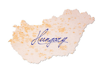 Hungary - Old paper with handwriting