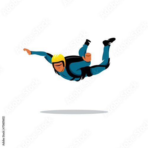 Skydiving vector sign - 70601602