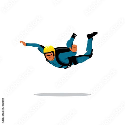 Fototapeta Skydiving vector sign