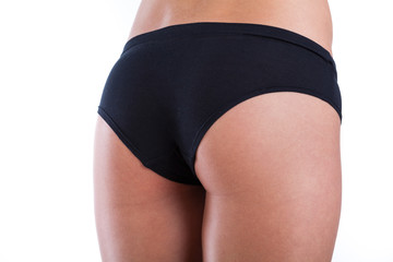 Firm female buttocks