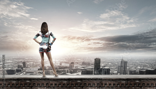 canvas print picture Woman in dress