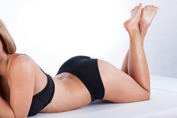 Sexy female body in underwear