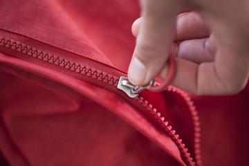 Unzipping a bag