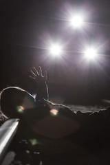 Suicide at night on railway tracks