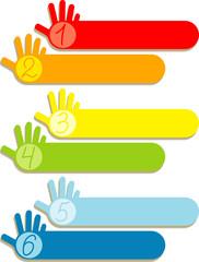 Infographic hands