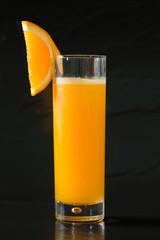 Glass of freshly pressed orange juice