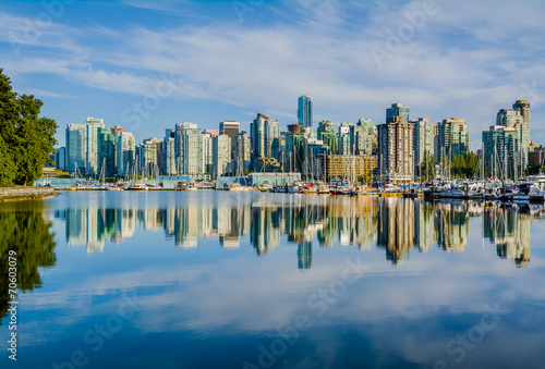 Plexiglas Canada Vancouver skyline with harbor, British Columbia, Canada