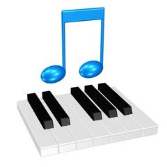 Klaviatur und Note