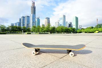 skateboard in city