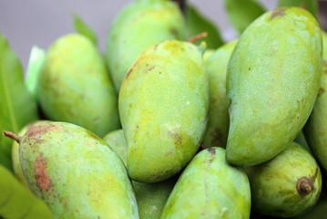 green fresh  mango