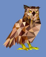 Owl bird triangle low polygon style