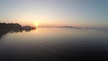 Lever de soleil sur l'étang de Thau