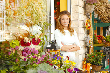 Small flower shop owner