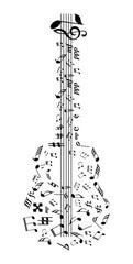 Music Notes Guitar