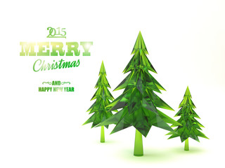 Illustration of christmas tree.