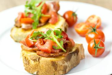 Italian Bruschetta Sandwich Close Up