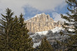 Dolomites mountains view in winter snow time