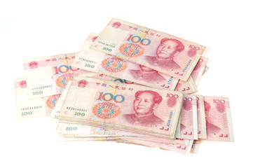 100 Yuan, Chinese money yuan banknote close-up