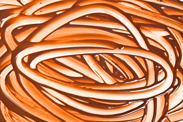 background painted chocolate finger