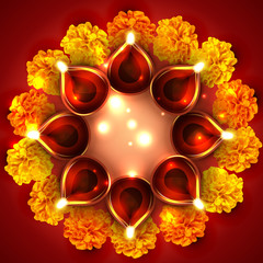 Background of diwali diya