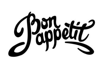 Bon appetit hand drawn lettering