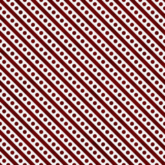 Red and White Small Polka Dots and Stripes Pattern Repeat Backgr