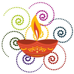 artistic background of diwali