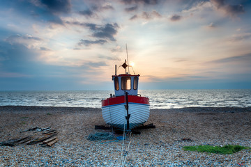 Fishing Boat on a Shingle Beach