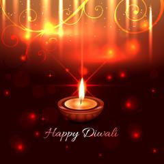 Artistic design of diwali diya