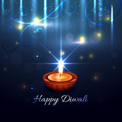 Beautiful artistic background of diwali