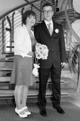 Memory image of the bride and groom