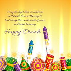 Beautiful card of diwali