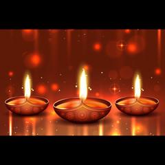 Shiny background of diwali