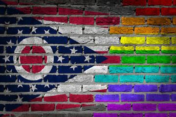 Dark brick wall - LGBT rights - Ohio