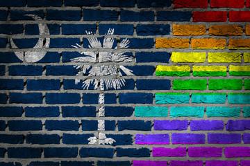 Dark brick wall - LGBT rights - South Carolina