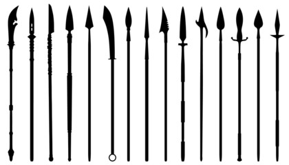 spear silhouettes