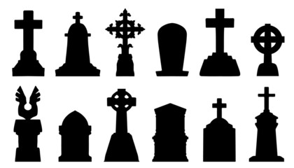 tombstone silhouettes