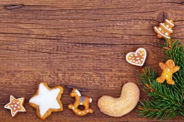 Weihnachten - Hintergrund - Weihnachtskarte - Holz