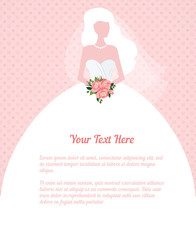 wedding invitation young woman silhouette