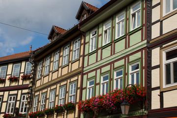 Fachwerkhäuser in einer Gasse in Wernigerode