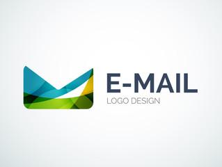 Email logo design made of color pieces