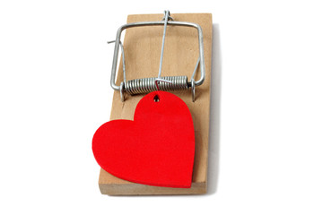 Mousetrap with heart